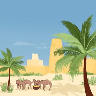 Un paysage aux Émirats