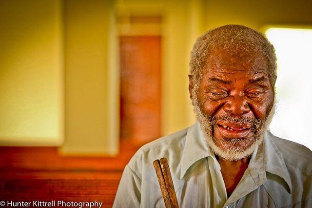 Blind man at our church.jpg