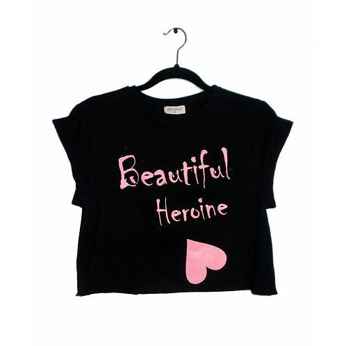 Black Beautiful Heroine Crop