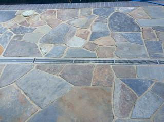 Custom Flagstone Patio Installation _ Cedar & Stone