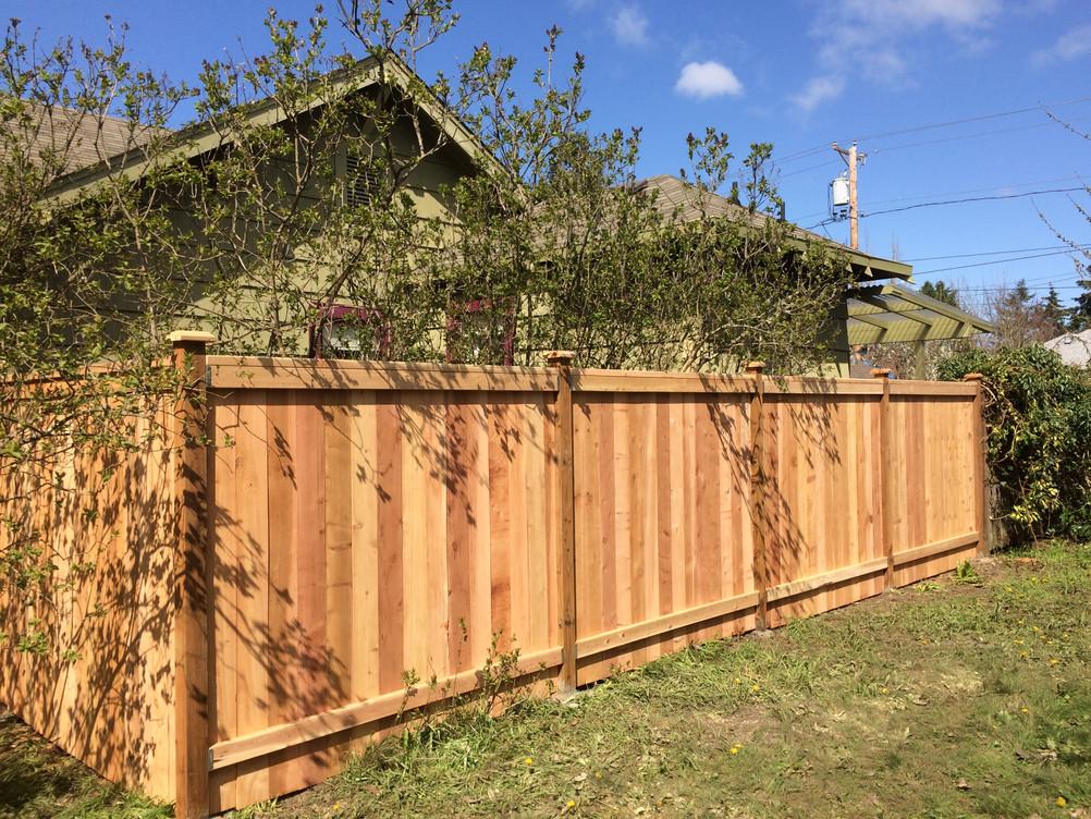 Cedar Fence Cap & Bevel