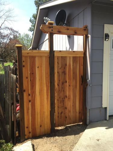 Custom Cedar Fence Gate