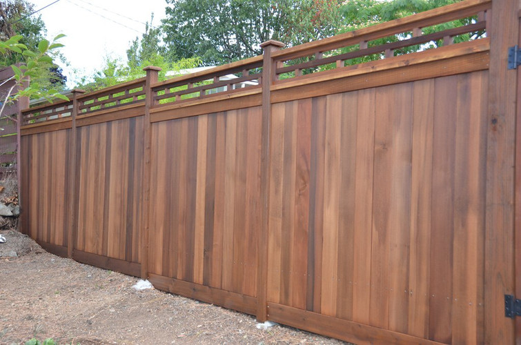 Cedar Fencing with Japanese Style Top