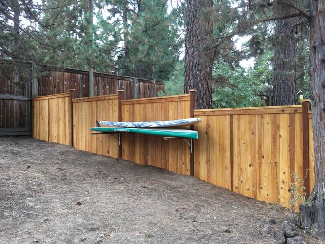 Custom Cap & Bevel Fencing with Built In Storage