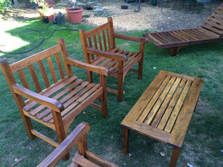 Outdoor Furniture Set Restoration _ Cedar & Stone