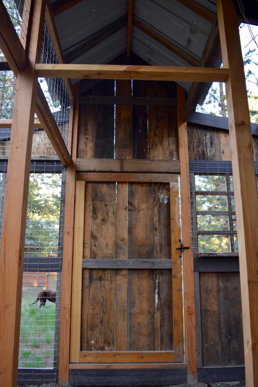 Chicken Coop Inside Front Door