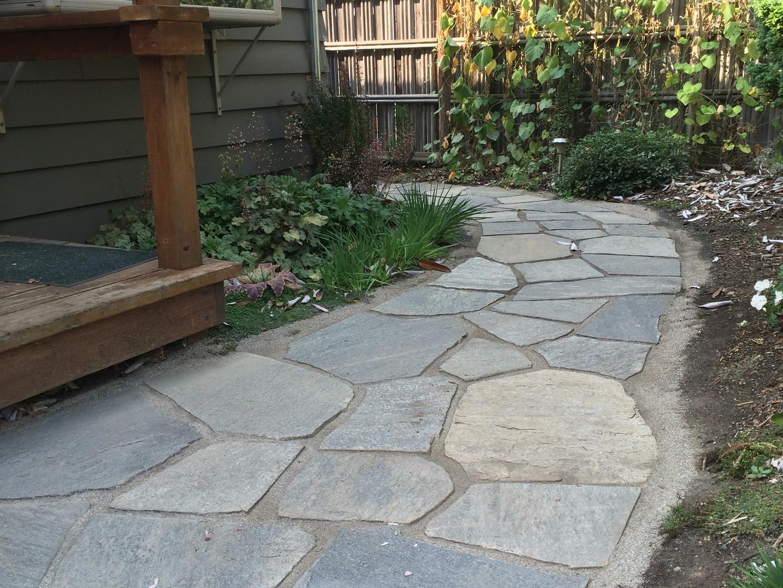 Flagstone Walkway by Cedar and Stone