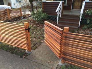 Horizontal 2x2 Cedar Fence with Gate