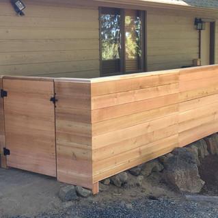 Custom Wood Fence & Gate _ Cedar & Stone