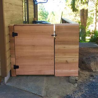 Custom Wood Fence & Gate - Front _ Cedar & Stone