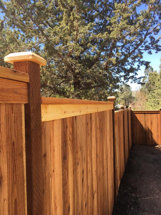 Stepped Cap & Bevel Fence Close Up