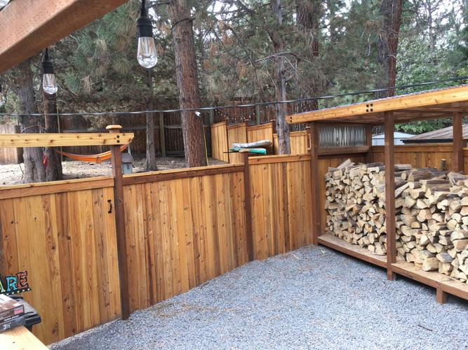 Custom Cap & Bevel Fencing & Wood Enclosure