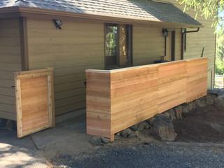Custom Wood Fence & Gate Bend _ Cedar & Stone