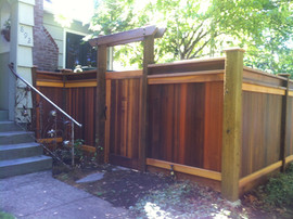 Tongue and Groove Fencing with Gate