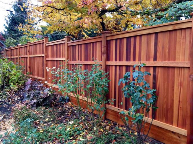 Tongue & Groove Cedar Fence made with Clear Cedar