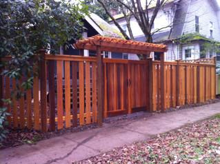 Custom Gap Fence with Gate & Header