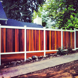 Custom Tongue & Groove Fencing with Kick Plates