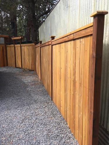 Custom Cap & Bevel Cedar Fencing