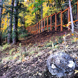 Custom Wire Grid Fencing on a Hill