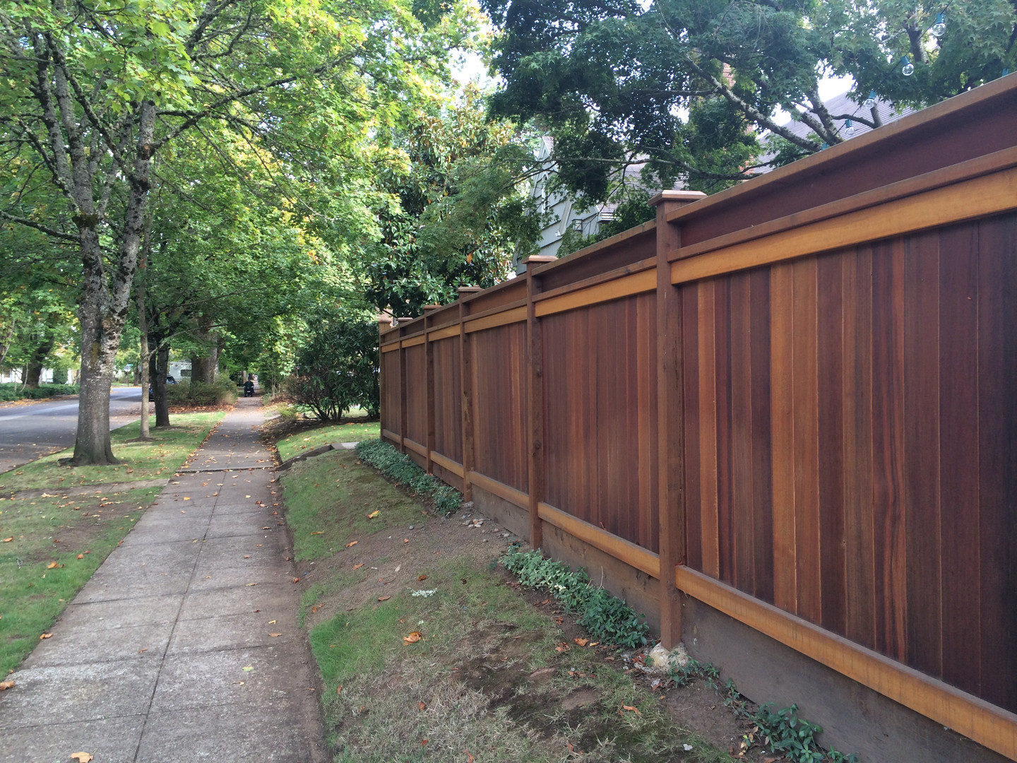 Trimmed Tongue & Groove Cedar Fence