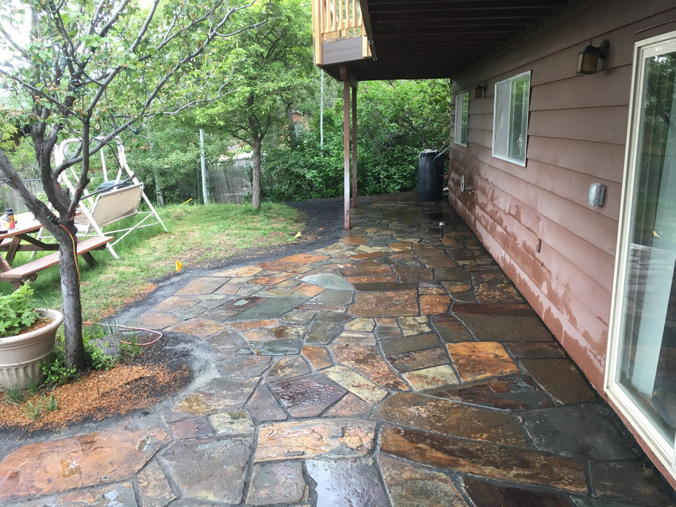 Handcrafted Flagstone Patio