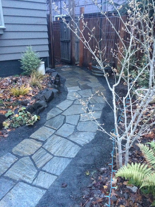 Flagstone Walkway - Dry-Lay Stone Masonry