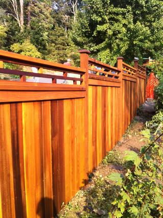Custom Japanese Style Fence Top