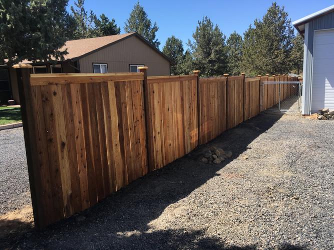 Cedar Cap & Bevel Fence