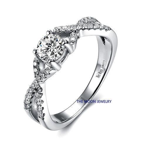 925純銀仿鑽戒指