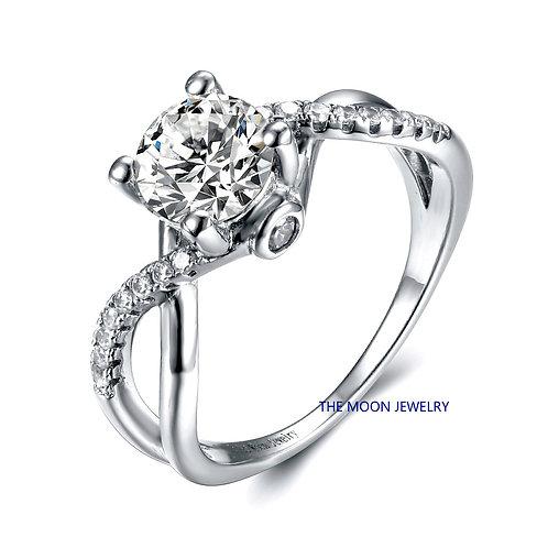 925純銀高級仿鑽戒指