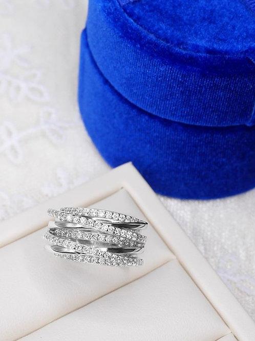 952純銀-多層次半身戒指