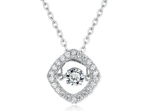 925純銀高級仿鑽專利技術Dancing Diamond 鏈咀