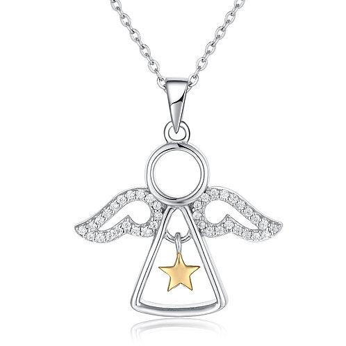 952純銀高級仿鑽天使鏈咀
