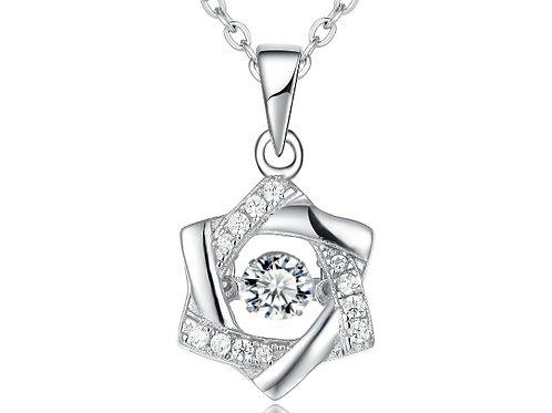 925純銀高級仿鑽專利技術Dancing Diamond 星星鏈咀