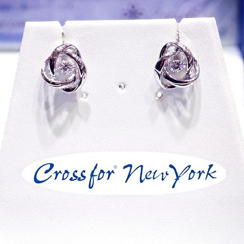 日本Crossfor - 玫瑰花閃動耳環