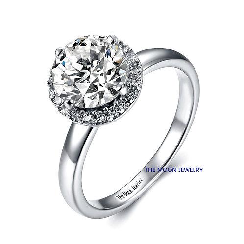 925純銀高級仿鑽圍鑽款戒指