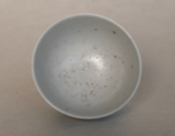 李朝白磁染付牡丹文杯, 朝鮮美術, Korean art, 焼物, 陶器