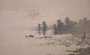 PB7 渓山宿雪図