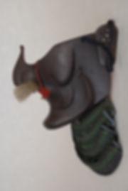 武具, 隆武面, Menpo, armor, 明珍紀宗