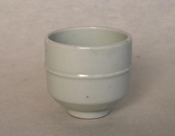 李朝白磁染付牡丹文杯, 朝鮮美術, Korean Art
