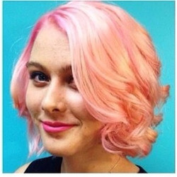Cotton candy pink haircolor and cut