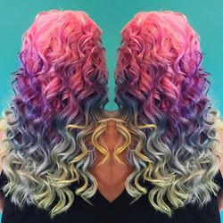 Unicorn Ombre haircolor