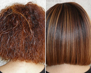 Keratin Smoothing Treatment- Before and After