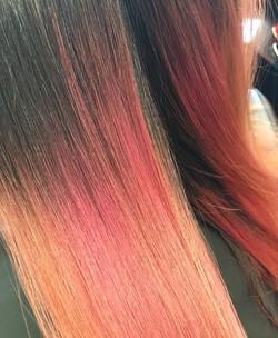 Ombre fantasy haircolor