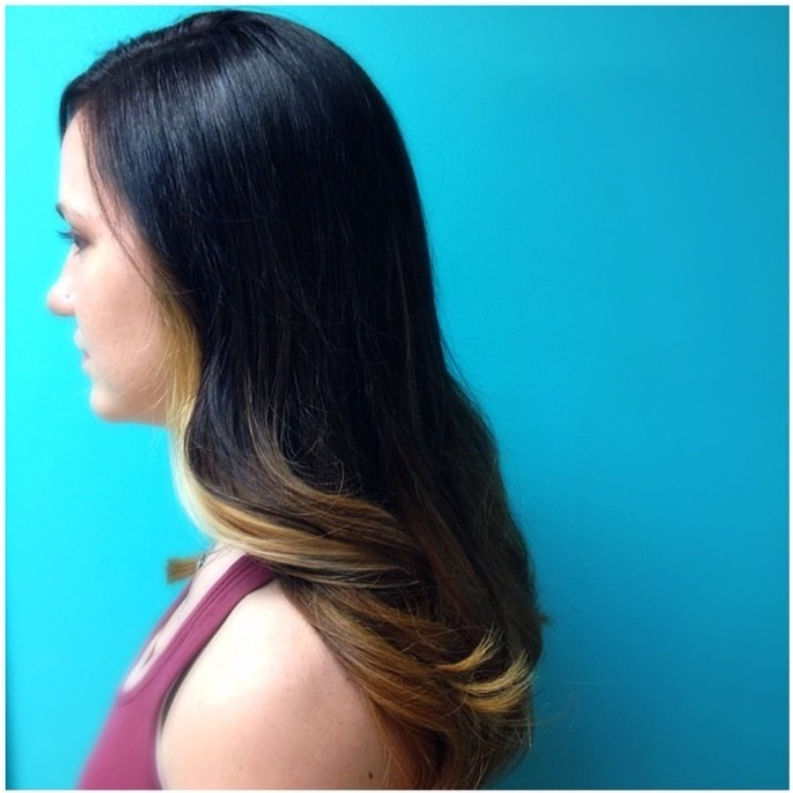 Soft balayage haircolor and blowout