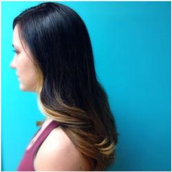Soft balayage haircolor and blowout