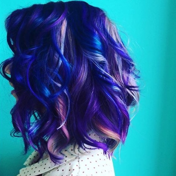 Blue and Purple fantasy haircolor