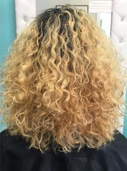 Curly Blonde hair
