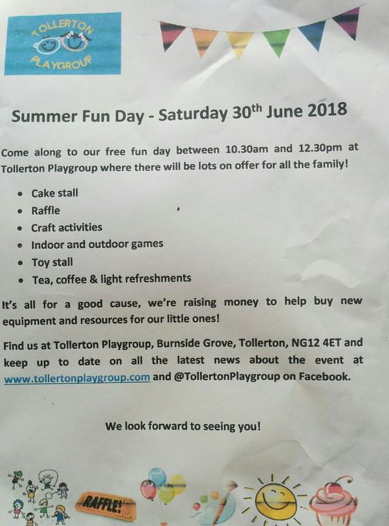 Summer Fun Day - Sat 30th June!