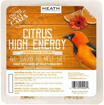 Heath Citrus Orange High Energy No Melt Suet